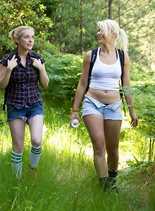 Captured in the Woods: A Featured Presentation: Two Beautiful Blondes Brutally Fucked in the Wild
