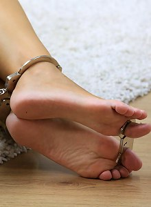Sophia barfeet and hogcuffed