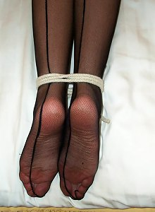 Girl loves being tied